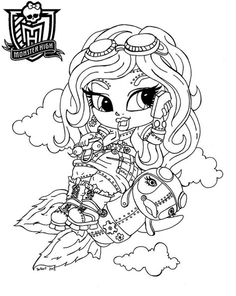 monster high chibi coloring pages baby monster high coloring pages baby monster high