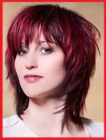 Roten Haaren Fransige Frisuren Mittellang Frisur Ideen