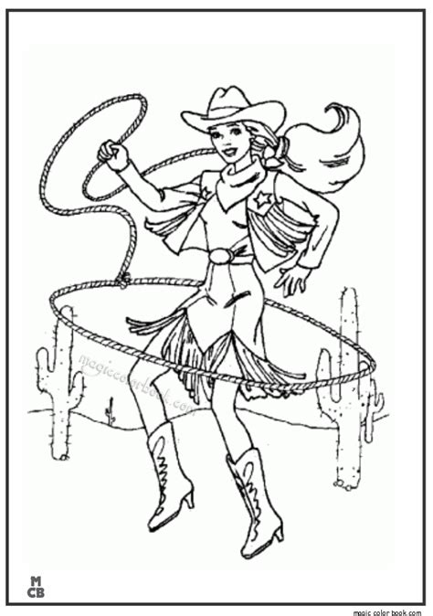coloring pages of cowgirls and horses cowboy coloring pages