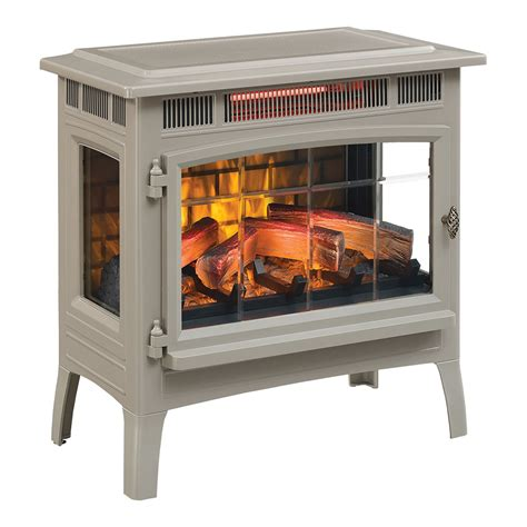 duraflame 3d french grey infrared electric fireplace stove