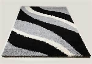 Merveilleux Recherche Tapis De Salon #1: Tapis-shaggy-noir-et-gris-de-salon-vasco-8-z.jpg