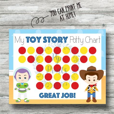 printable reward charts toy story printable toy story potty training chart instant download