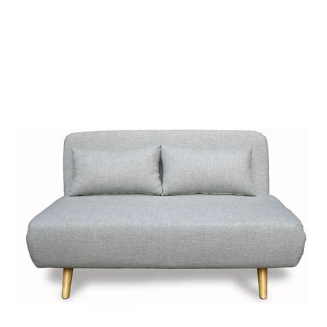 canap 233 convertible scandinave 2 places gris clair de