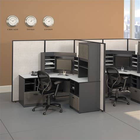 bush bbf series a 42 quot w corner desk with overhead in slate