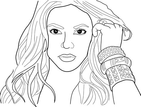 Coloring Pages by Shakira Coloring Page
