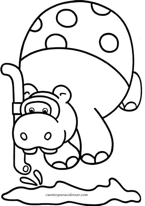 imagenes infantiles hipopotamo dibujos para colorear hipop 243 tamo