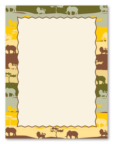 printable jungle paper image gallery safari border
