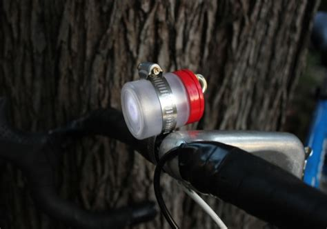 Diy Led Bike Light System by This Led Bike Light Was Made From A Recycled Jar