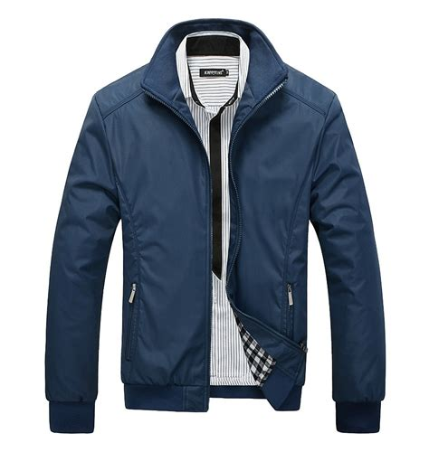Jaket Pria Exclusive Zipper Stylish Blue mens casual jacket new autumn winter jacket fashion