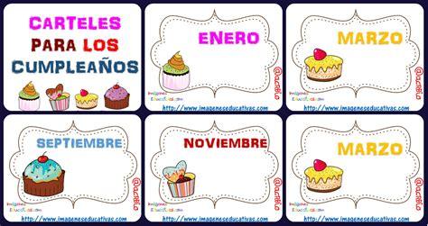 imagenes educativas meses del año tarjetas imprimibles plantillas rinc 243 n del cumplea 241 os