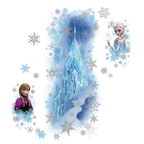 disney frozen wall stickers disney frozen palace glitter wall decals