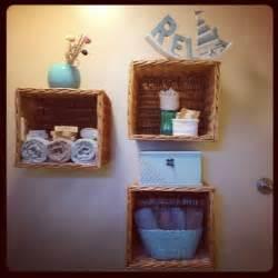 Basket Shelves For Bathroom 17 Best Images About Hanging Basket Shelves Shelf Ideas On Storage Bins Hanging