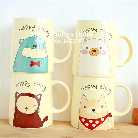 cute animal mugs creative cute animal mug breakfast cup ceramic cup lovers