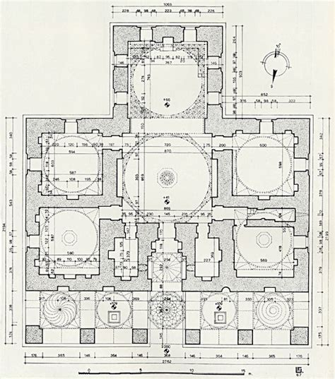 mosque floor plan bayezid pa蝓a camii floor plan of mosque archnet