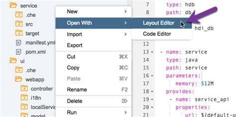 layout editor sap sap web ide ninja 4 develop full stack to do app in sap
