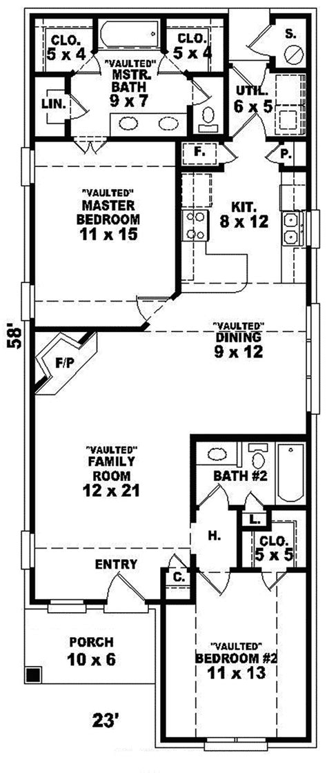 Narrow Ranch House Plans by Chamblin Narrow Lot Ranch Home Plan 087d 0014 House