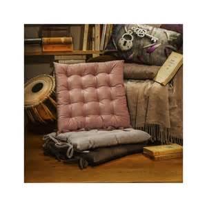 dehli galette de chaise gris clair capitonn 233 e velours