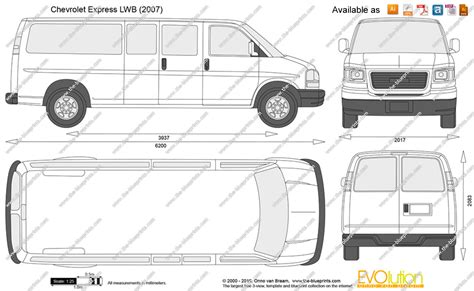 chevrolet express dimensions the blueprints vector drawing chevrolet express lwb