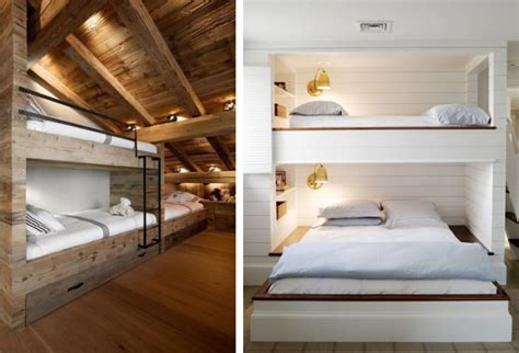 bed built into wall bed built into wall niche above l three single beds and