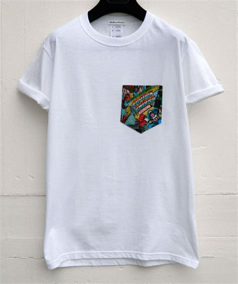 white t shirt with pattern pocket t shirt pocket t shirt design database