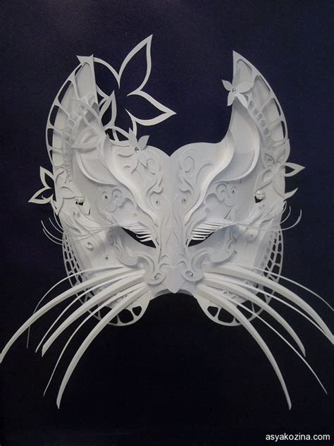 Mask With Paper - mask from paper on behance