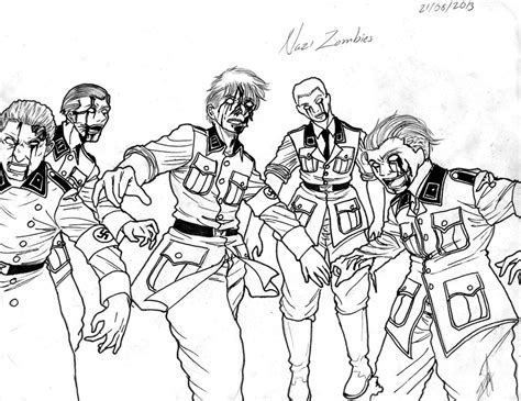 black ops zombies coloring pages pictures to pin on