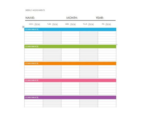 weekly planner template word 26 blank weekly calendar templates pdf excel word template lab