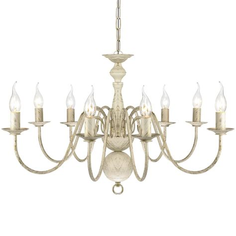 white metal eight light chandelier antique white metal chandelier 8 x e14 bulbs www vidaxl au