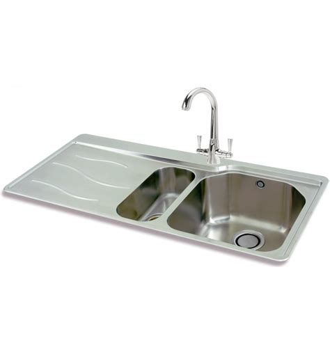 inset kitchen sink carron phoenix maui 150 stainless steel bowl half inset
