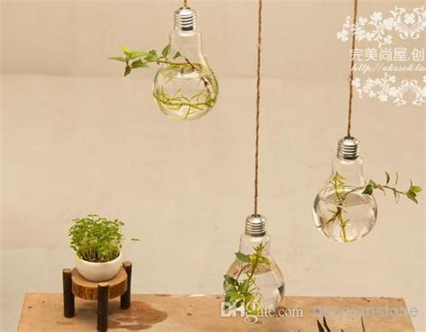 wholesale decorations for home wholesale fashion home decor 2pcs glass vase home decoration two hanging bulb vase decorative