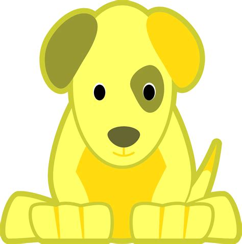 yellow puppy clipart yellow