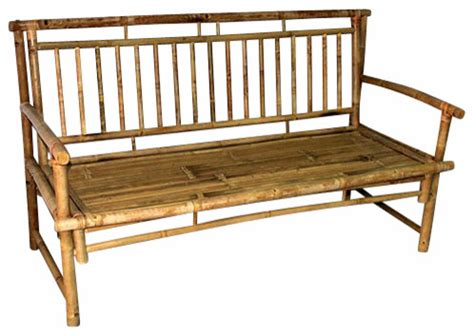 bamboo benches standard slat back bamboo bench 54 quot l x 21 quot w x 36 quot h asian outdoor benches by