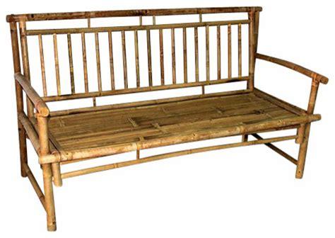"Standard Slat Back Bamboo Bench, 54""L x 21""W x 36""H"