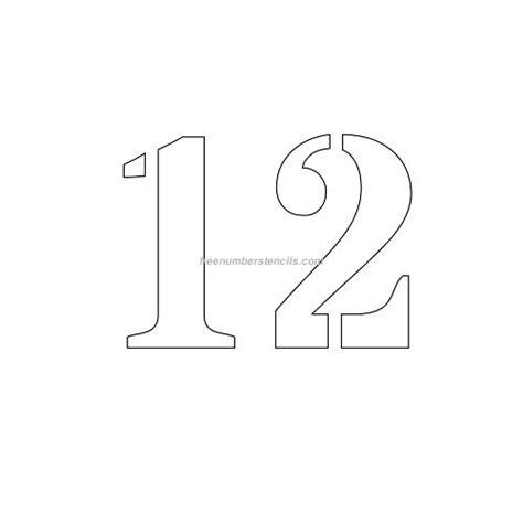 printable 12 inch number stencils free 4 inch 12 number stencil freenumberstencils com