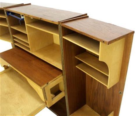 danish desk in a box danish mid century modern box fold away secretary desk