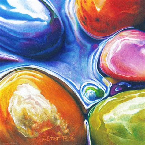 Homedesign 3d pebble stones painting by ester roi 14
