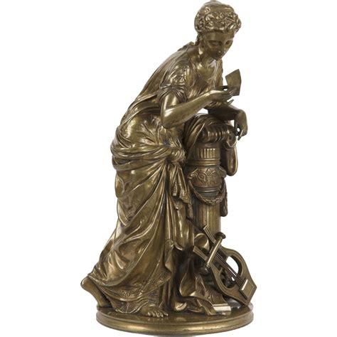 classical antique bronze sculptures figurine old man french antique bronze sculpture of classical maiden by