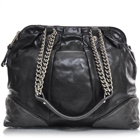 Marc Mix Quilted Tote by Marc Leather Mixed Quilted Dash Tote Black 23993