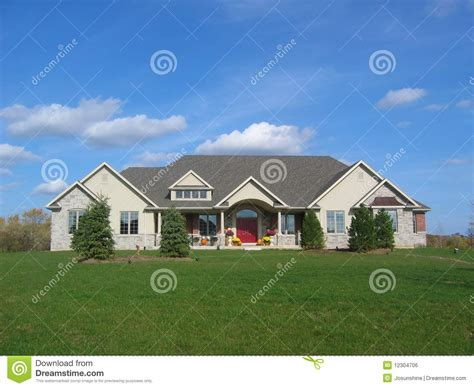 country stucco homes stucco country house green grass stock photo image 12304706