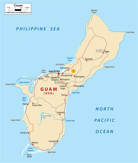 printable road map of guam map of guam map of guam nations online project guam map
