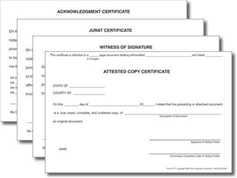 notary certificates combo comes with one of each