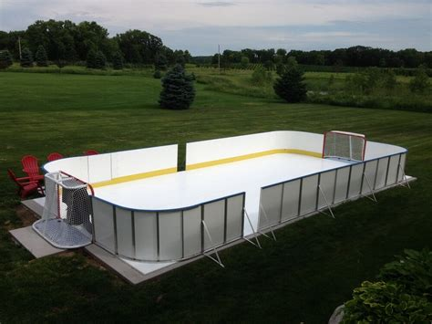 backyard hockey rink liners d1 backyard rinks synthetic ice basement or backyard