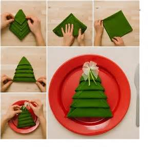 this is how to make christmas tree napkin fold video