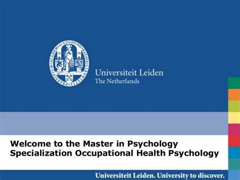 Occupational Health Psychology master occupational health psychology