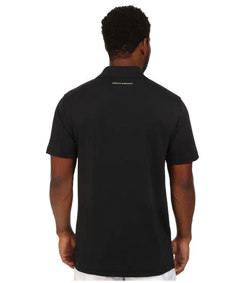 Kaos Polo Logo Armour Black armour ua fish hook polo shirt in black for lyst