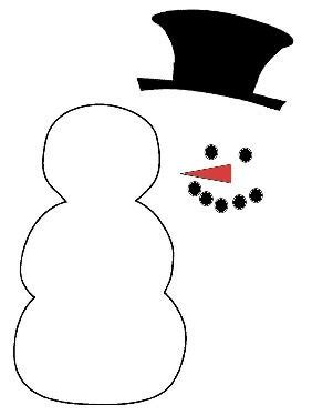 free printable snowman hat template international craft patterns snowman outline including