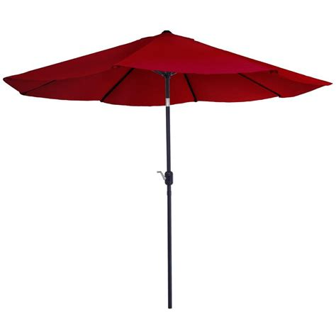 Auto Tilt Patio Umbrella Garden 10 Ft Aluminum Patio Umbrella With Auto Tilt In M150003 The Home Depot