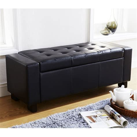 blanket storage bench verona ottoman blanket box storage bench faux leather foot