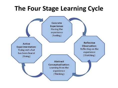 teaching and learning cycle diagram kolb s learning styles manu melwin