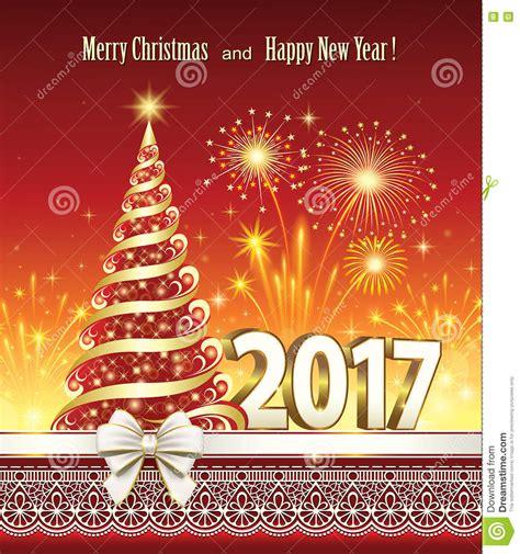 clipart buon anno buon natale e buon anno 2017 illustrazione vettoriale